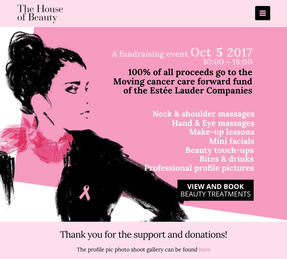 Estée Lauder / Pink Ribbon event