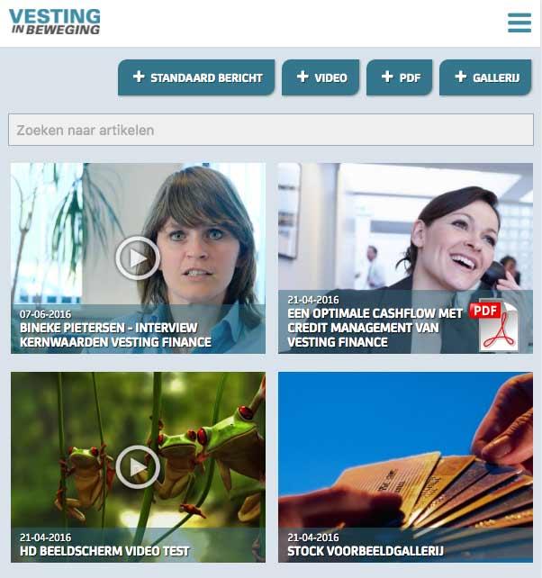 Vesting Finance Media Portal