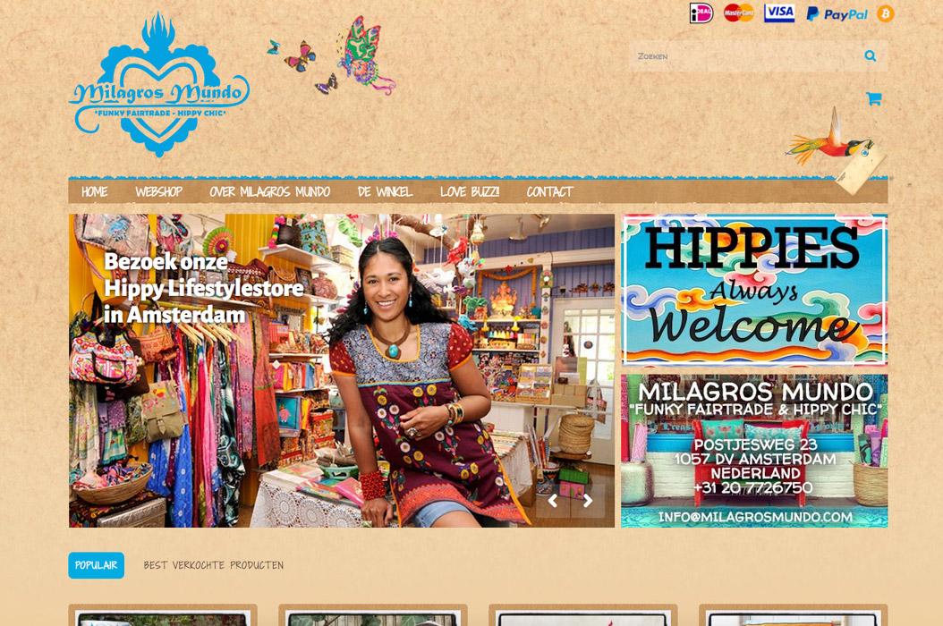 Milagros Mundo webshop